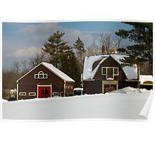 Winter Barns in New England 2011 Poster
