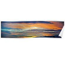 Long Thin Clouds at Sunset Poster