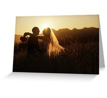 Wedding silhouettes Greeting Card