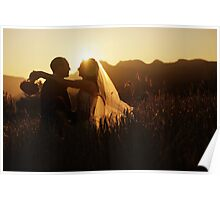 Wedding silhouettes Poster