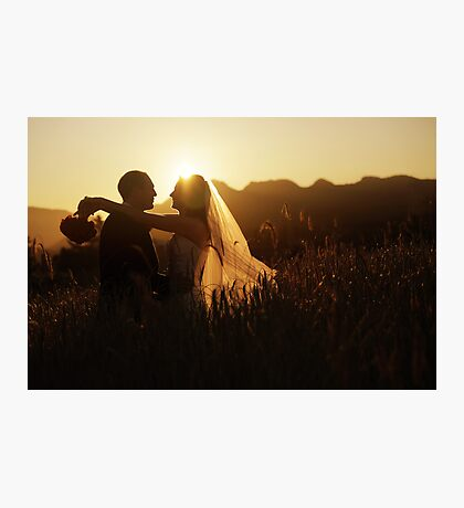 Wedding silhouettes Photographic Print