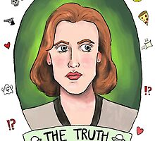 Dana Scully (transparent) by minimumchampion