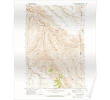 USGS Topo Map Oregon Lone Rock Creek 280571 1970 24000 Poster
