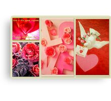 Valentine Collection featured in Collective Collage, Inspired Art & Holidays & Special Occasions Canvas Print