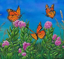 """Bouquet with Butterflies"" by Jules Summers"