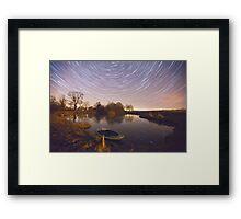 Boat Pond Startrails Framed Print