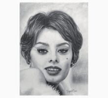 Sophia Loren in Graphite Pencil Baby Tee