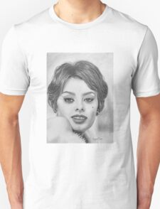 Sophia Loren in Graphite Pencil T-Shirt