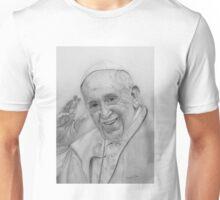 Pope Francisco in graphite pencil Unisex T-Shirt