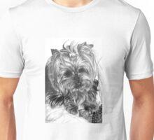 Yorkshire dog in graphite pencil Unisex T-Shirt