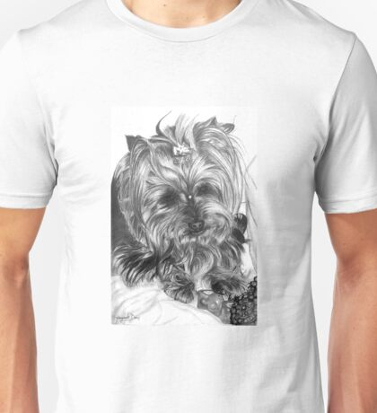 Yorkshire dog in graphite pencil Unisex T-Shirt