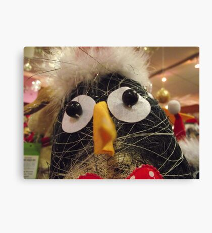 Funky penguin Canvas Print