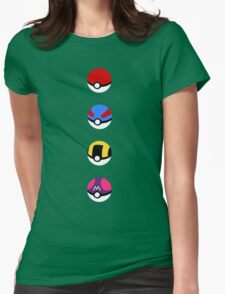 Pokeballs Womens Fitted T-Shirt