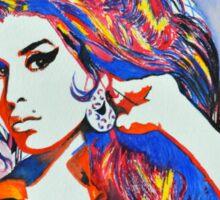 Amy Winehouse in Watercolor Sticker