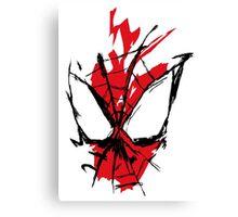 Spiderman Splatter Canvas Print