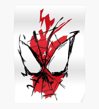Spiderman Splatter Poster