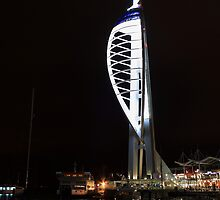 Spinnaker Tower at Night by Dave Godden