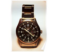 Seiko 5 Sports Automatic 23 Jewels 100M Military Watch Poster