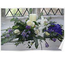 pretty blue floral arrangement Poster