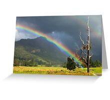 A Lost World and a Pot of Gold Greeting Card