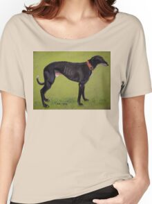 Black Greyhound Women's Relaxed Fit T-Shirt