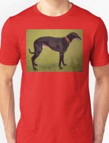 Black Greyhound Unisex T-Shirt