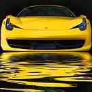 Yellow Ferrari by Luke Griffin