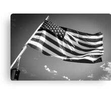 American Flag in Black and White Canvas Print