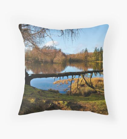 Moss Eccles Tarn, Cumbria Throw Pillow