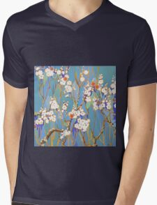 Autumn Blossoms Mens V-Neck T-Shirt