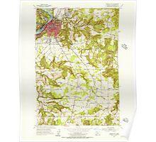 USGS Topo Map Oregon Oregon City 281000 1954 24000 Poster