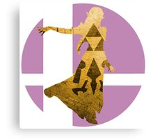 Sm4sh - Zelda Canvas Print
