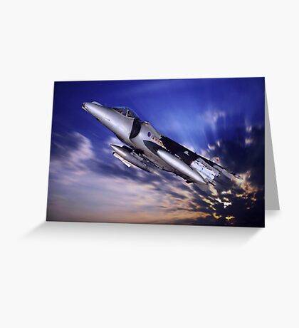 Royal Air Force Harrier Greeting Card