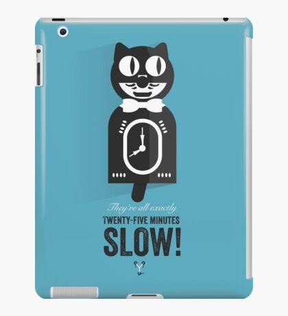 Cinema Obscura Series - Back to the future - Cat Clock iPad Case/Skin