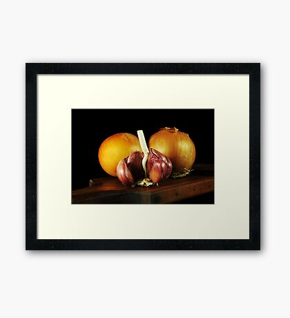 Onions and Garlic Framed Print