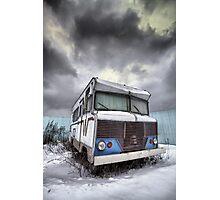 the relinquished resident....(Winnebago, Cherry Street & Front, Toronto, Ontario, Canada) Photographic Print