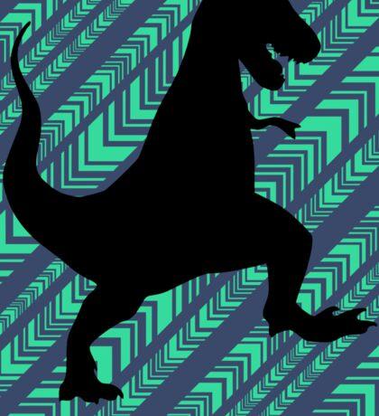 Tyrannosaurus Rex Dinosaur Chevron Sticker