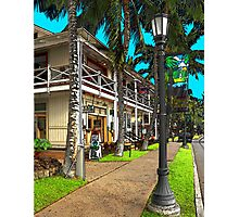 Kailua Village - Kona Hawaii Photographic Print