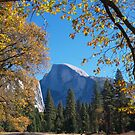 Framed view of Half Dome in Yosemite by Alex Cassels