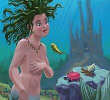 mermaid underwater city by martyee