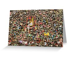 Wall of Chewing Gum Greeting Card