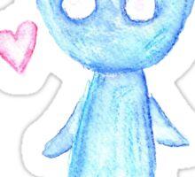 Blue Critter Sticker