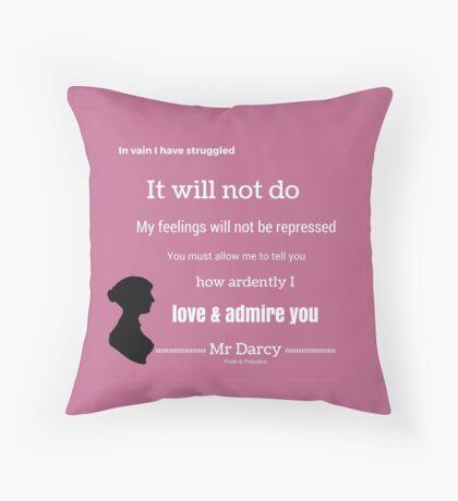 Jane Austen Pride & Prejudice Quote Throw Pillow