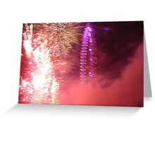 Amazing London - New year's Day Fireworks  #2 - 1st - 2011 - UK Greeting Card