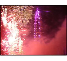 Amazing London - New year's Day Fireworks  #2 - 1st - 2011 - UK Photographic Print