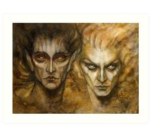 Melkor and Sauron Art Print
