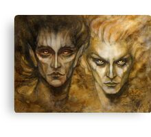 Melkor and Sauron Canvas Print