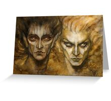 Melkor and Sauron Greeting Card