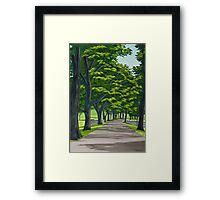 Oak Drive Framed Print