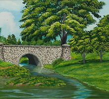 Taylor Lake Stone Bridge by Charlotte  Blanchard